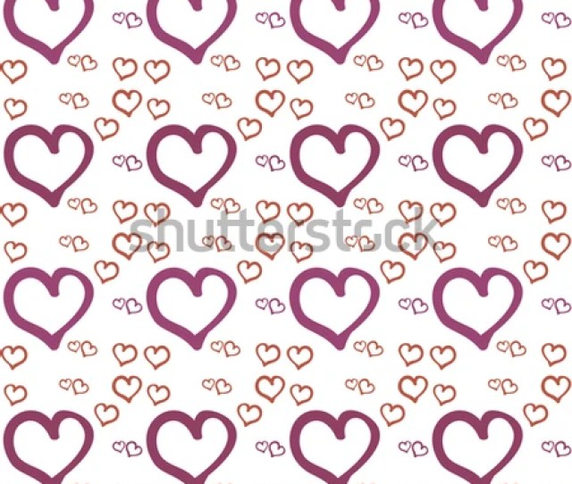 Seamless Abstract Pattern With Hearts Festive Texture Wedding Decoration In A Romantic Style For