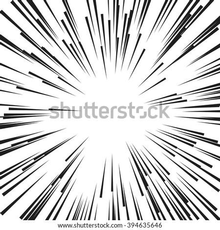 Comic Radial Speed Lines. Graphic… Stock Photo 394635676