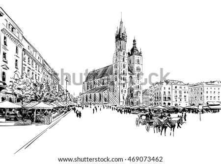 Vector Images, Illustrations and Cliparts: Poland. Krakow
