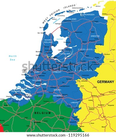 Vector Images Illustrations and Cliparts Netherlands map