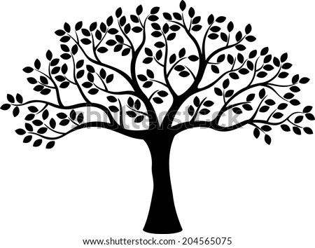 Royalty-free Tree with leaves vector #322647812 Stock