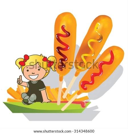 free corn dog clip art 123freevectors