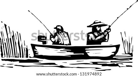 Black And White Vector Illustration Of Man And Woman