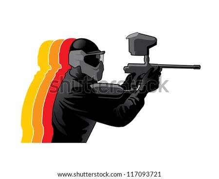 Paintball Players Silhouette Vector Download Free Vector Art Free Vectors
