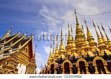 Wat Phra That Su Thon Mongkhon Khiri Samakkhi Tham in Phrae Province, Thailand. - stock photo