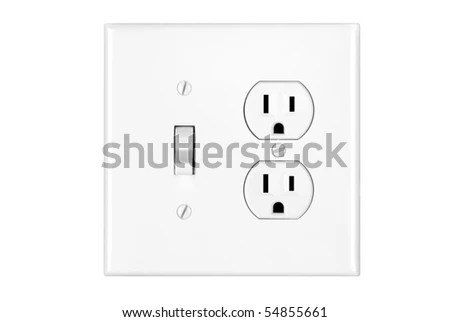 A Multi Power Combination Light Switch And Power Outlet