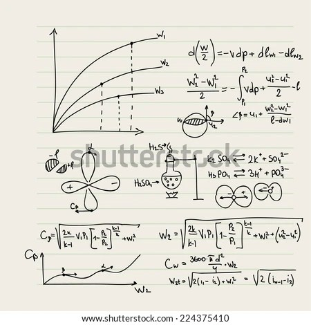 Vector Pattern With Mathematical Formulas, Calculations