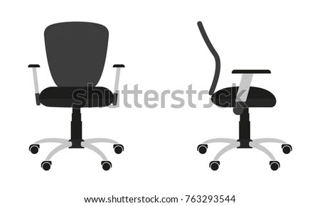 office chair vector chairs with footrests adirondack beach free download art stock icon isolated on white background front and side view flat design