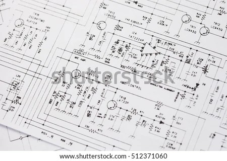 Electronics engineering drawing or… Stock Photo 512337547