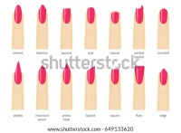 Royalty-free Nail shape icons. Types of fashion nail ...