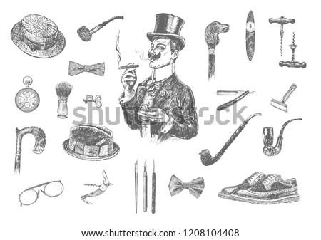 men s accessories vectors