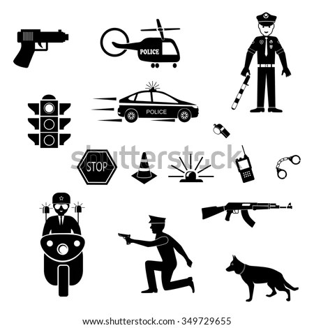 Royalty-free Police Officer Traffic on Duty Stick