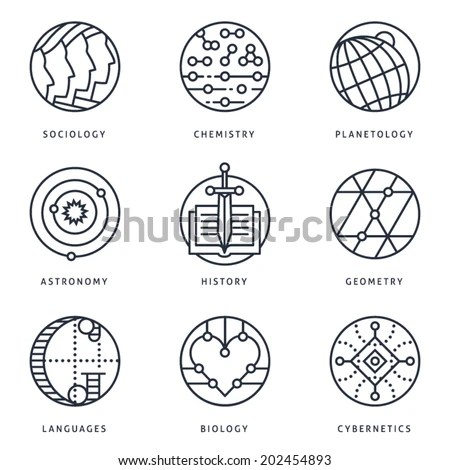 Illustrations and logo templates of… Stock Photo 203548126