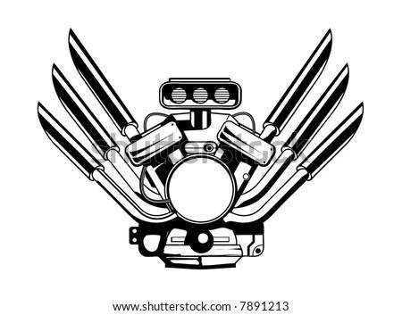 Motor Parts: Motor Parts Vector