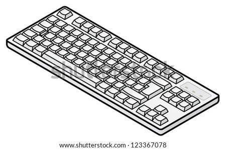 A White Plain Unlabelled Classic-Style Compact Keyboard