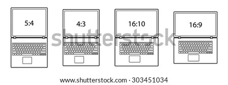 Diagrams Comparing Differences Between Different Screen