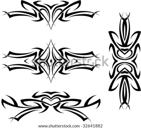 stock vector : Tattoo Arm Band Set