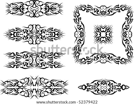 stock vector : Tattoo armband