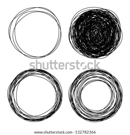 Hand Drawn Circles, Vector Logo Design Elements