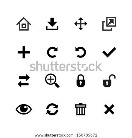 Web Icons Set. Toolbar, Edit And Customize Stock Vector