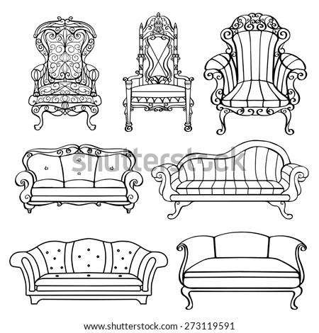 Royalty-free Furniture chair, armchair, throne, sofa