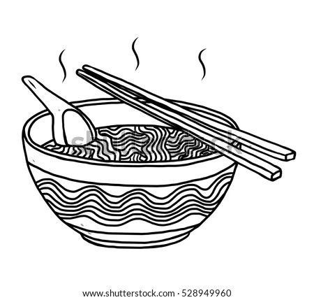 Vector Images, Illustrations and Cliparts: noodles bowl