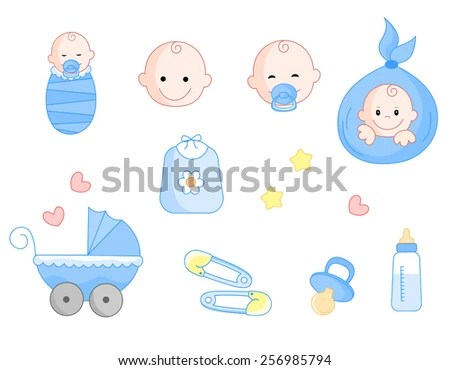 pacifier baby vector illustration