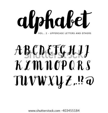 Brush Strokes and Handwritten Letter Vector Pack Free