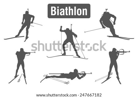 Vector Biathlon / Biathlon Free Vectors Download / 4Vector