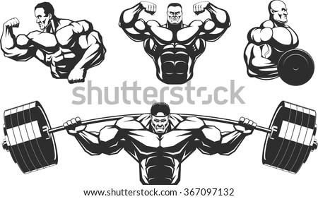 Bodybuilder Free Logo Free Vector