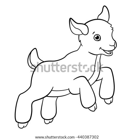 Royalty-free Cartoon farm animals for kids. Little
