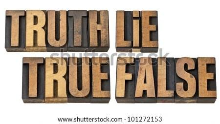 waarheid/leugen