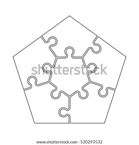 Vector Images, Illustrations and Cliparts: Five piece