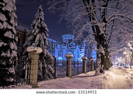 Winter Night Landscape Photos