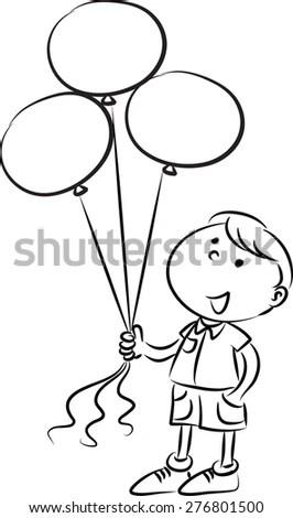 Royalty-free School kids holding balloons #276801650 Stock