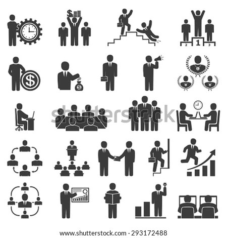 Business People In Work. Office Icons, Conference