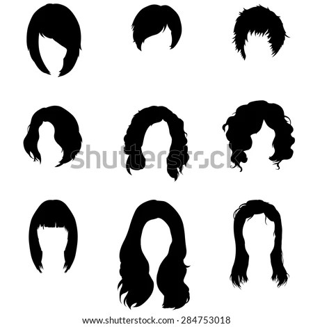 Silhouettes of hair styling 2-vector Stock Photo 136548536