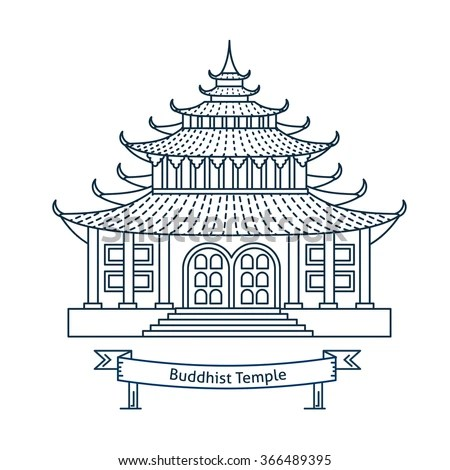 Vector Images, Illustrations and Cliparts: Buddhist temple