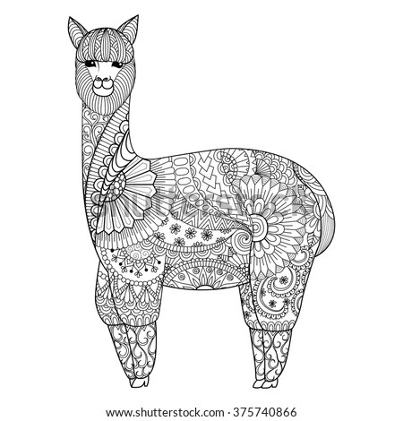 Zentangle camel design for coloring… Stock Photo 364932392