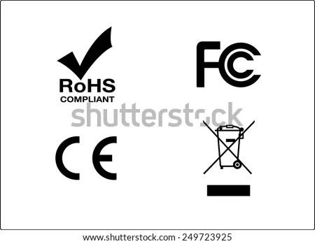 Rohs Fc Ce Bin Symbols Stock Vector 249723925 : Shutterstock