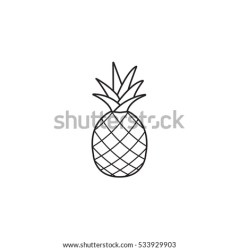 How To Draw A Pineapple Black And White Pineapple Clipart Stunning free transparent png clipart images free download