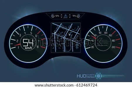 car dashboard ui illustration