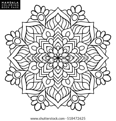 Mandala Vector Floral Flower Oriental Coloring Book Page