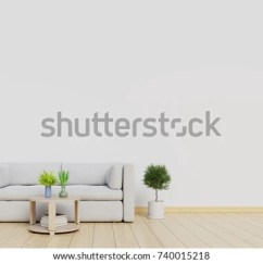 Wall Sofa Cover For Futon Bed Living Room Interior Mock Up With And White Background 3d Rendering