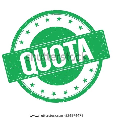 Quota Stamp Sign Text Word Logo Green. Stock Photo 526896478 : Shutterstock