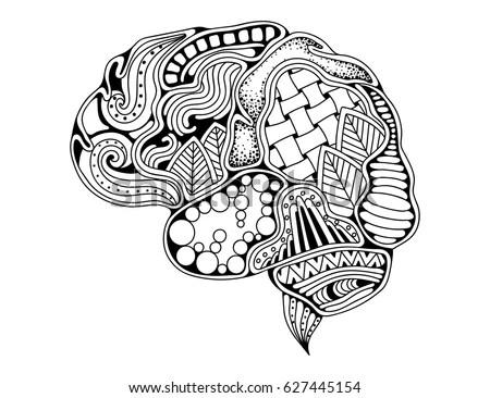Human machine brain with detailed… Stock Photo 447609718