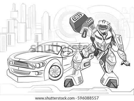 Download Transformers Robots Wallpaper 1366x768