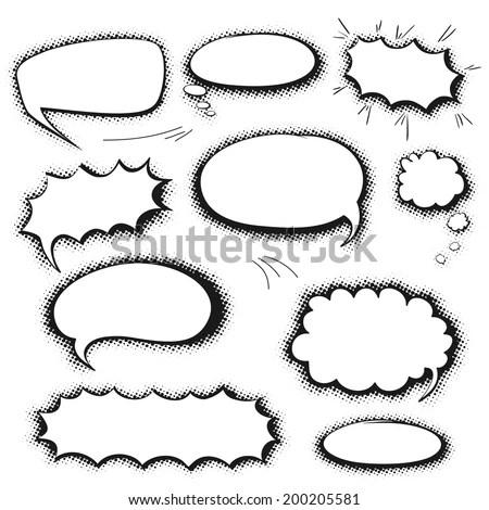 Cartoonstyle dialogue bubbles vector Free Vector / 4Vector