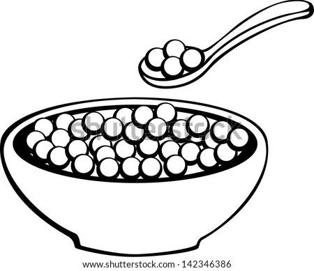 Cereal In Bowl And Spoon Stock Photo 142346386 : Shutterstock