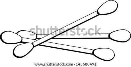 Cotton Swabs Stock Vector Illustration 145680491